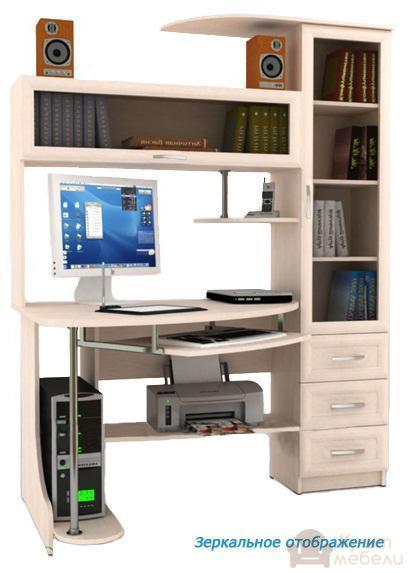 Купить компьютерный стол green fashion фк - 208 kult mebeli.