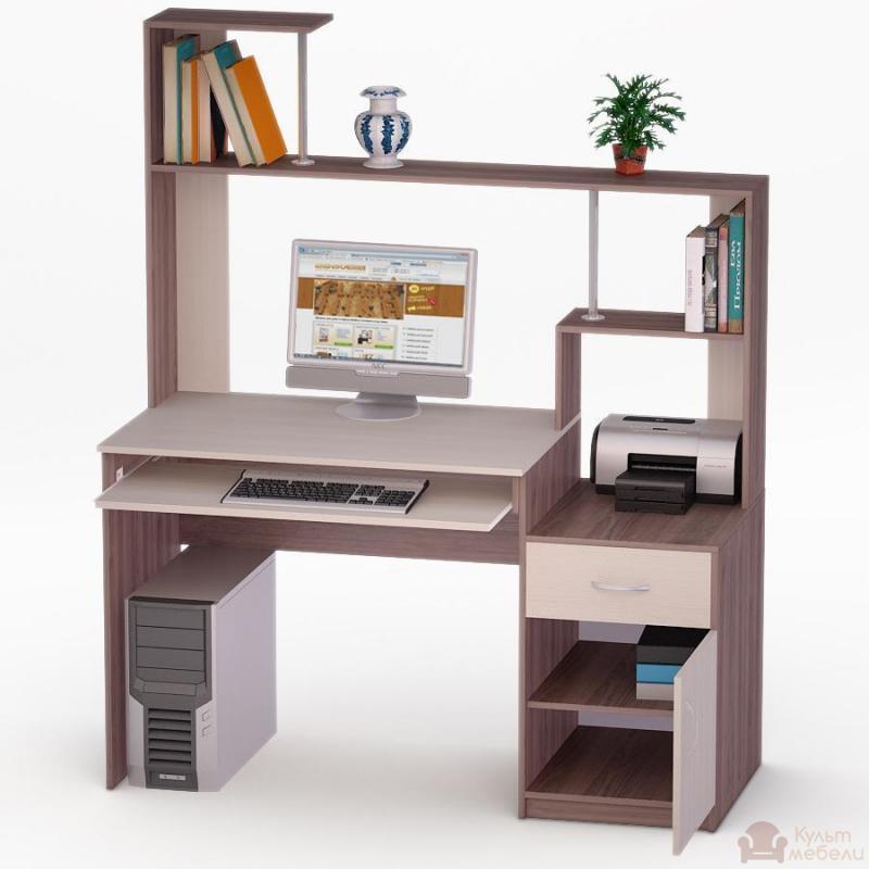 Купить компьютерный стол ника led - 2 kult mebeli.