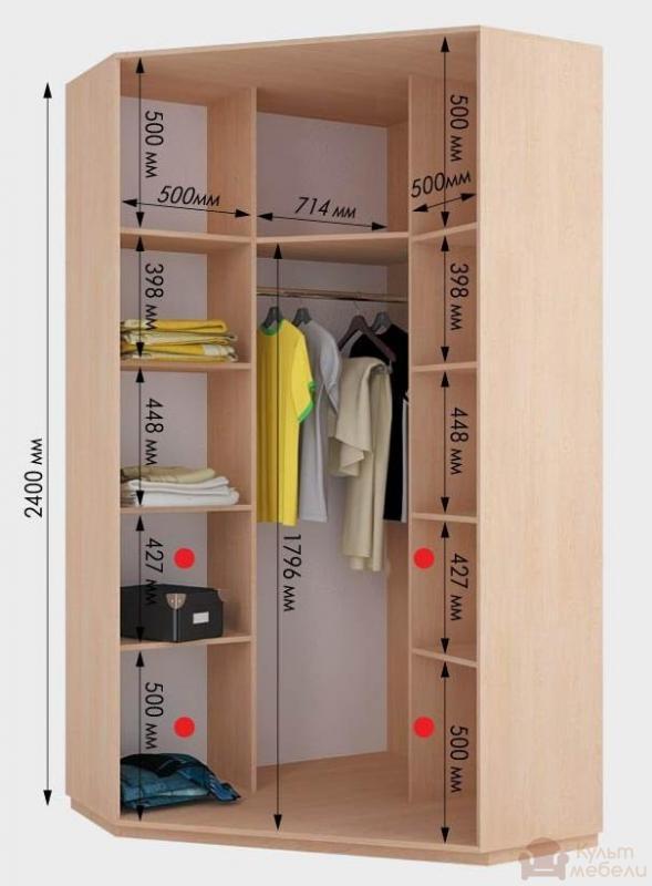 Купить угловой шкаф - купе дом виват в125 kult mebeli.